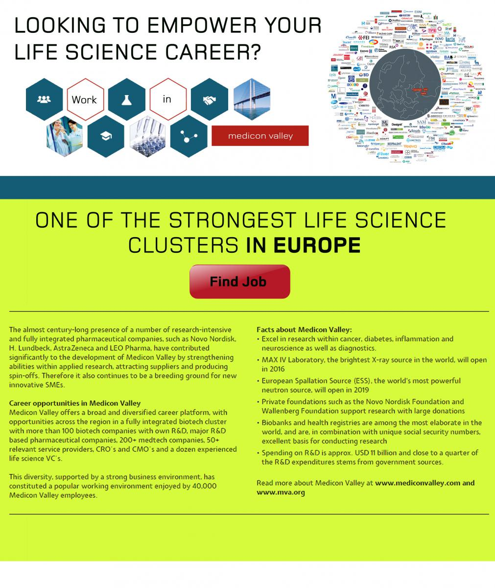 Life Science jobs in Medicon Valley